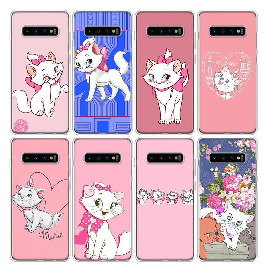 Funda de teléfono AristoCats Marie Cat para Samsung Galaxy A51, A71, A50S, A10, A20E, A30, A40, A70, A01, A21, A41, A11, A6, A7, A8, A9 Plus +