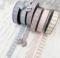 25mm 10yards grid polyester ribbon tweed webbing ribbon for gamentshatspins sewing accessories ribbon for garments