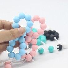 Bracelets de dentition en Silicone 1 pièce   Jouets bébé, perles de dentition, mignon bébé de qualité alimentaire perlé bébé, jouets Chewable