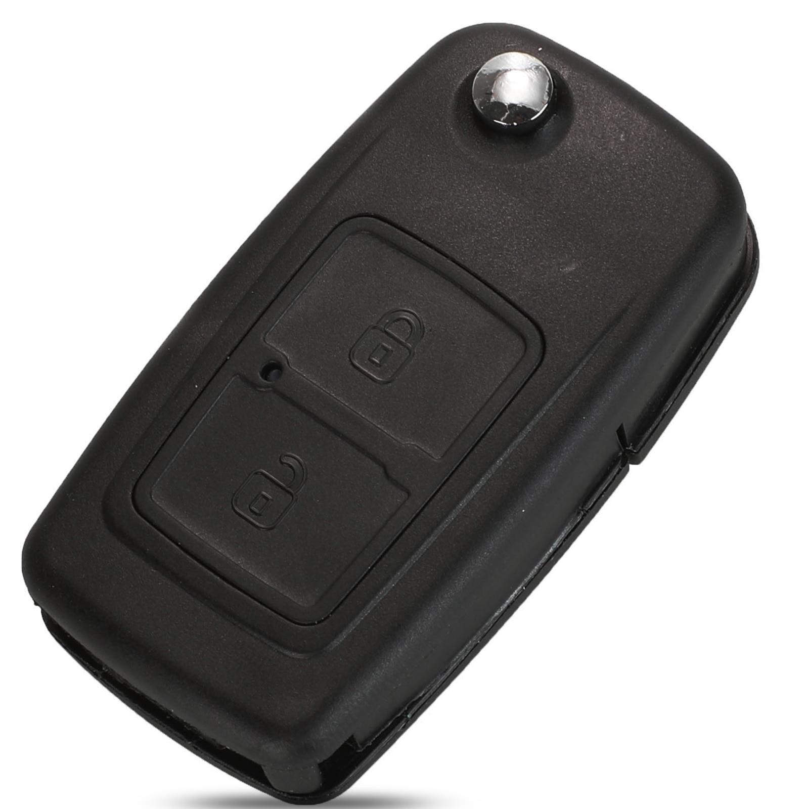 Kutery 2 botões substituição remoto carro chave caso escudo fob para chery a5 fulwin tiggo e5 a1 cowin t11 2009