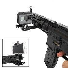 Action caméra pistolet côté Rail support de montage adaptateur de mouvement pour GoPro Hero 7 6 5 4 Sony Yi 4K Smartphone pour fusil pistolet chasse