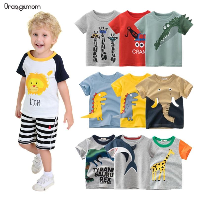 Orangemom cartoon 2021 Summer Children's Clothing Boys Short Sleeve T-shirt Kids Sweatshirt Child's Cotton Clothes Boys T-shirts