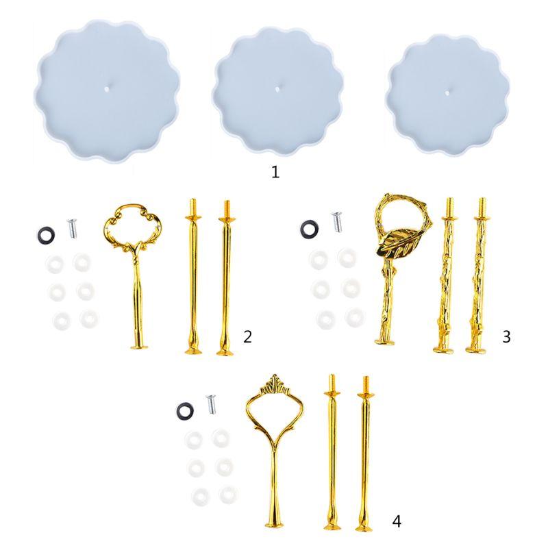 1 Juego de molde de resina Epoxy de cristal, bandeja de 3 capas, molde de silicona para manualidades utensilios para manualidades