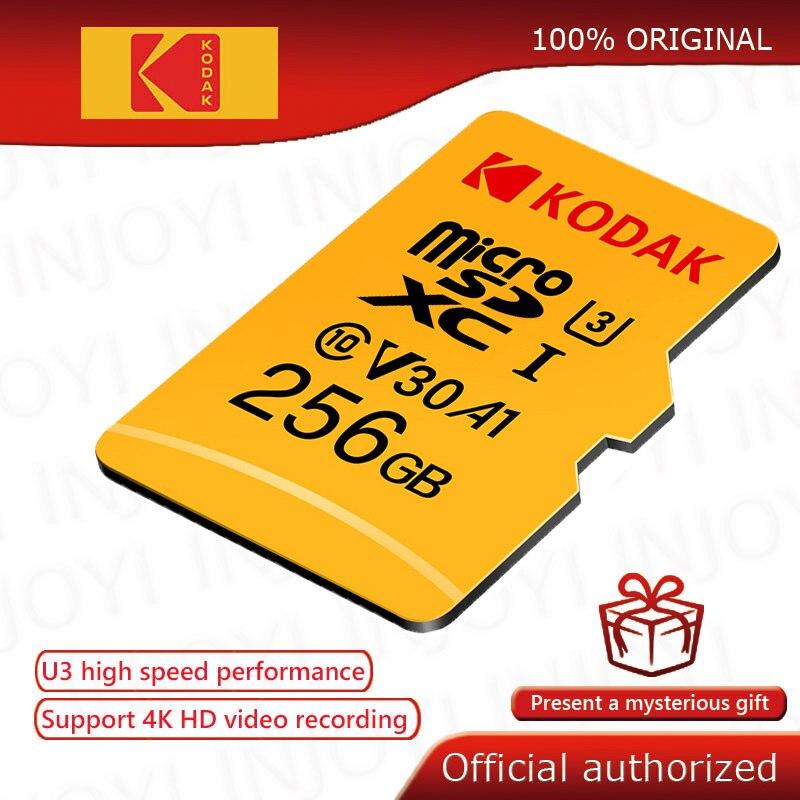 Kodak de alta velocidad sd micro 64gb Clase 10 U3 4K carta sd micro 128gb tarjeta de memoria Flash 256GB mecard sd micro kart 32gb