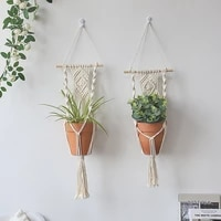 2 pack macrame plant hanger garden pots planters indoor outdoor hanging planter basket makramee bohemian home decor wall art