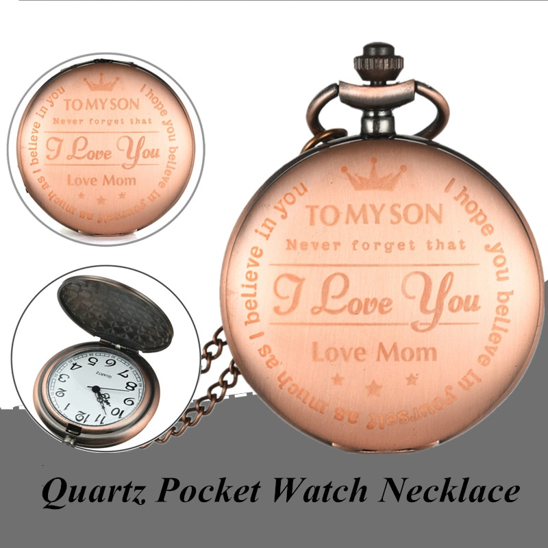 Vintage Bronze Quartz Pocket Watch Necklace Pendant Clock Chain Men Women Fob Watches Jewelry Accessory Gift hot monster anime cosplay pocket watch chain men boy cool quartz pendant watches necklace men ball hot game full hunter vintage