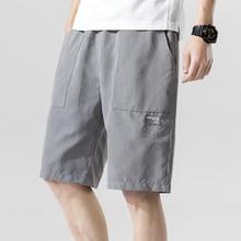 2020 Men's Summer Casual Shorts Men Elastic Waist Loose Fashion Shorts Men Bermuda Beach Shorts For