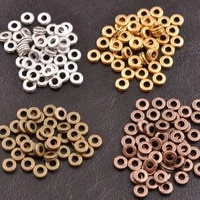 100pcs round tibetan silver diy beads for jewelry making metal charms spacer beads findings for bracelet 6mm