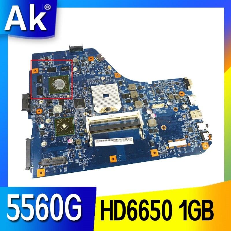 Akemy para Acer Placa de Sistema Aspire Computador Portátil Placa-mãe 48.4m702. 011 Mbrnz01001 Mbrus01001 Ddr3 Hd6650 1gb Gráficos 5560 5560g