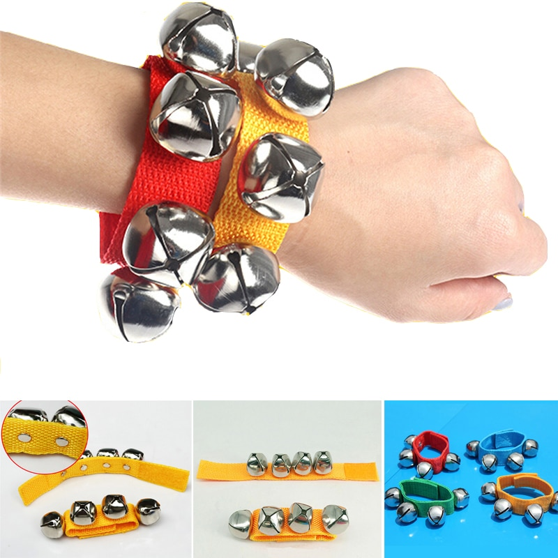 Baby Musical Rattles Toy Percussion Early Educational Toy Infant Hand Wrist Bell Jingles Shake Foot