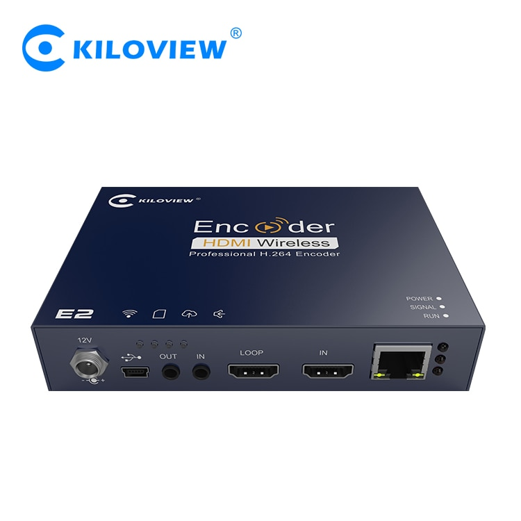 Kiloview con cable HDMI IP corriente H.264 a Srt Rtmp Rtsp de Audio y Video Encoder para Facebook Twitter Youtube