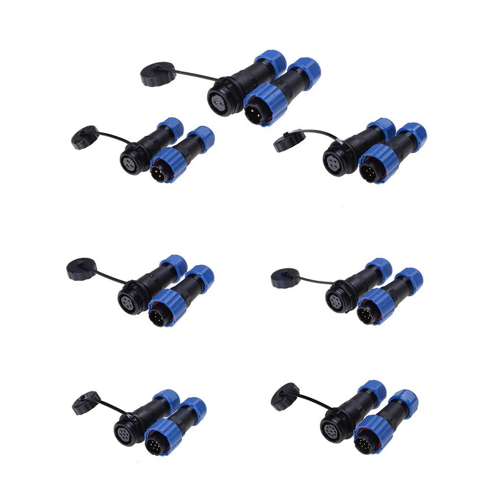 Connecteur étanche SP16 prise mâle et douilles   2/3/4/5/ Pin, connecteur de câble de fil monté sur le panneau, connexion daviation