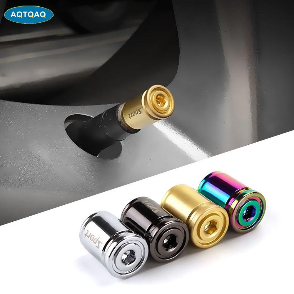 1Set Car Styling Zinc Alloy Anti-theft Sport Car Tire Valve Caps Wheel Tires Tire Stem Air Cap Airtight Covers