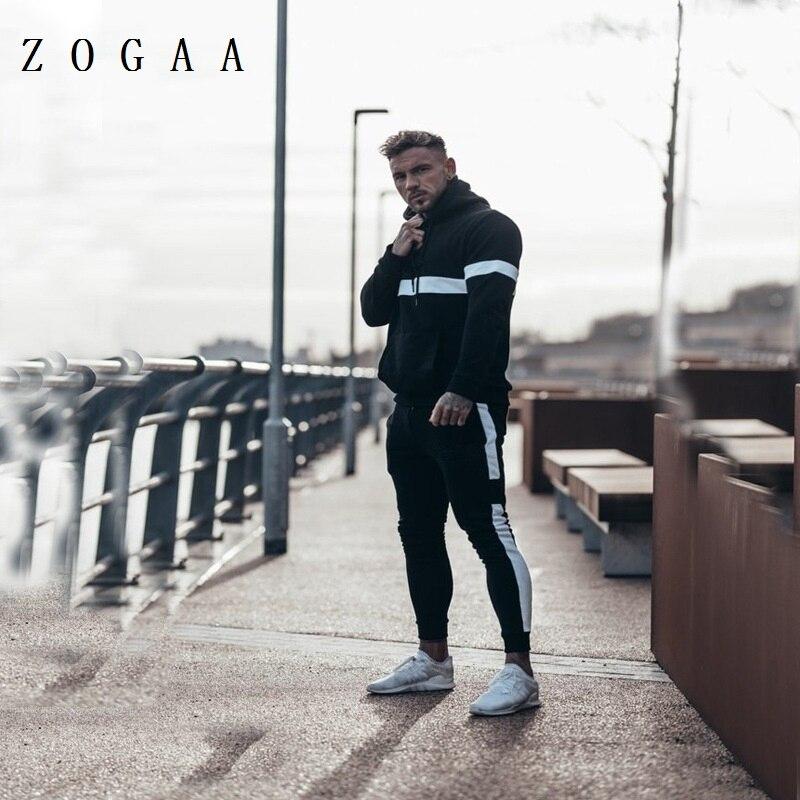ZOGAA 2020 جديد للرجال 2 قطعة ملابس رياضية ربيع الخريف الإناث دعوى موضة مقنع العداء الرجال الرياضة البدلة مجموعات الرجال طقم رياضي