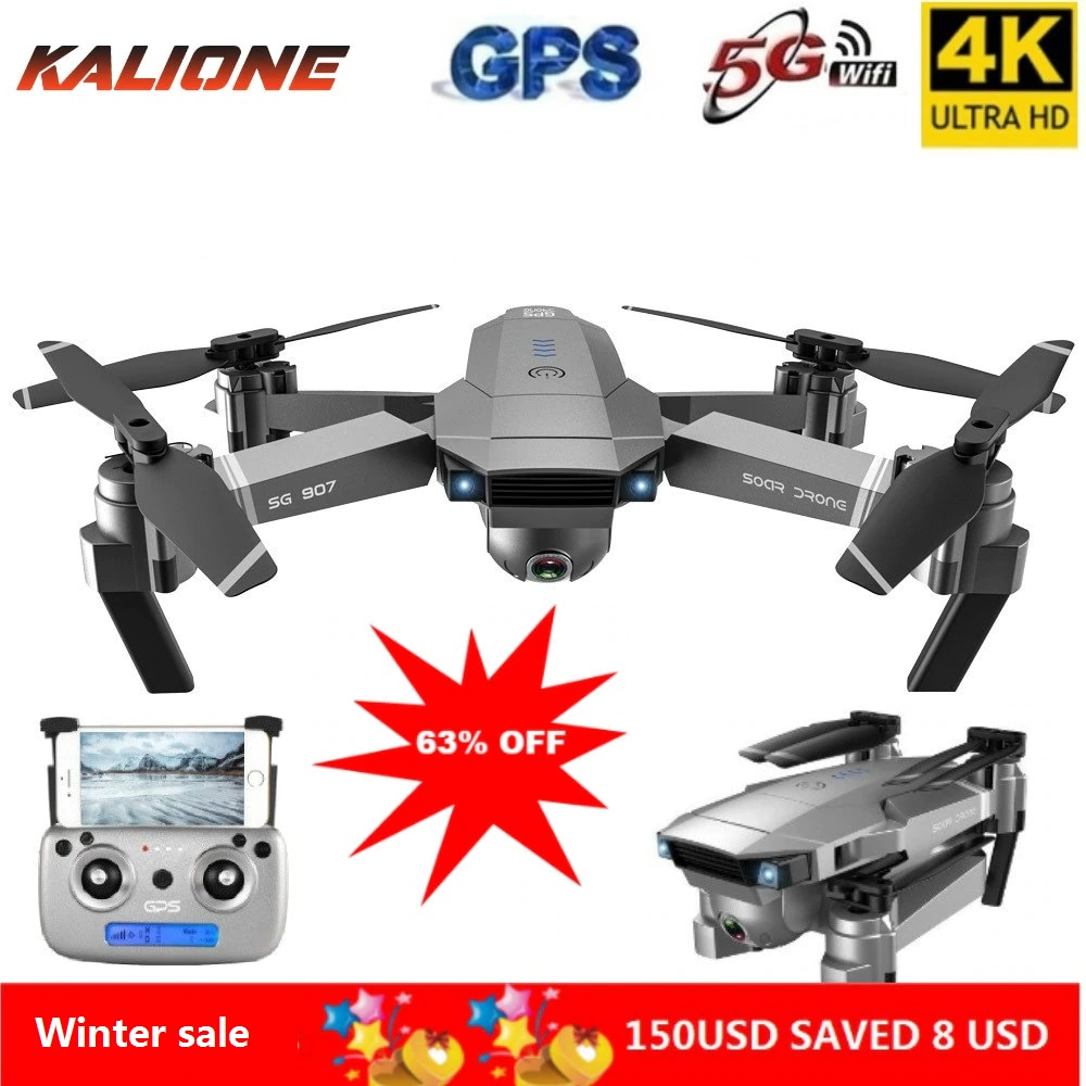 SG907 Professional Drone 4K Selfie HD Dual Camera GPS Follow Wide-Angle Anti-shake 5G WIFI FPV RC Quadcopter Foldable 50X Zoom