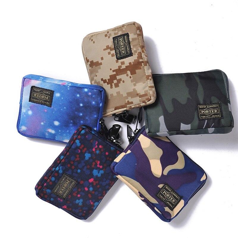 2019 Cartera de marca japonesa y coreana para hombres, cartera corta de tela de Nylon, bolso para mujer, bolsos para teléfono, carteras de estudiantes bolso juvenil Casual