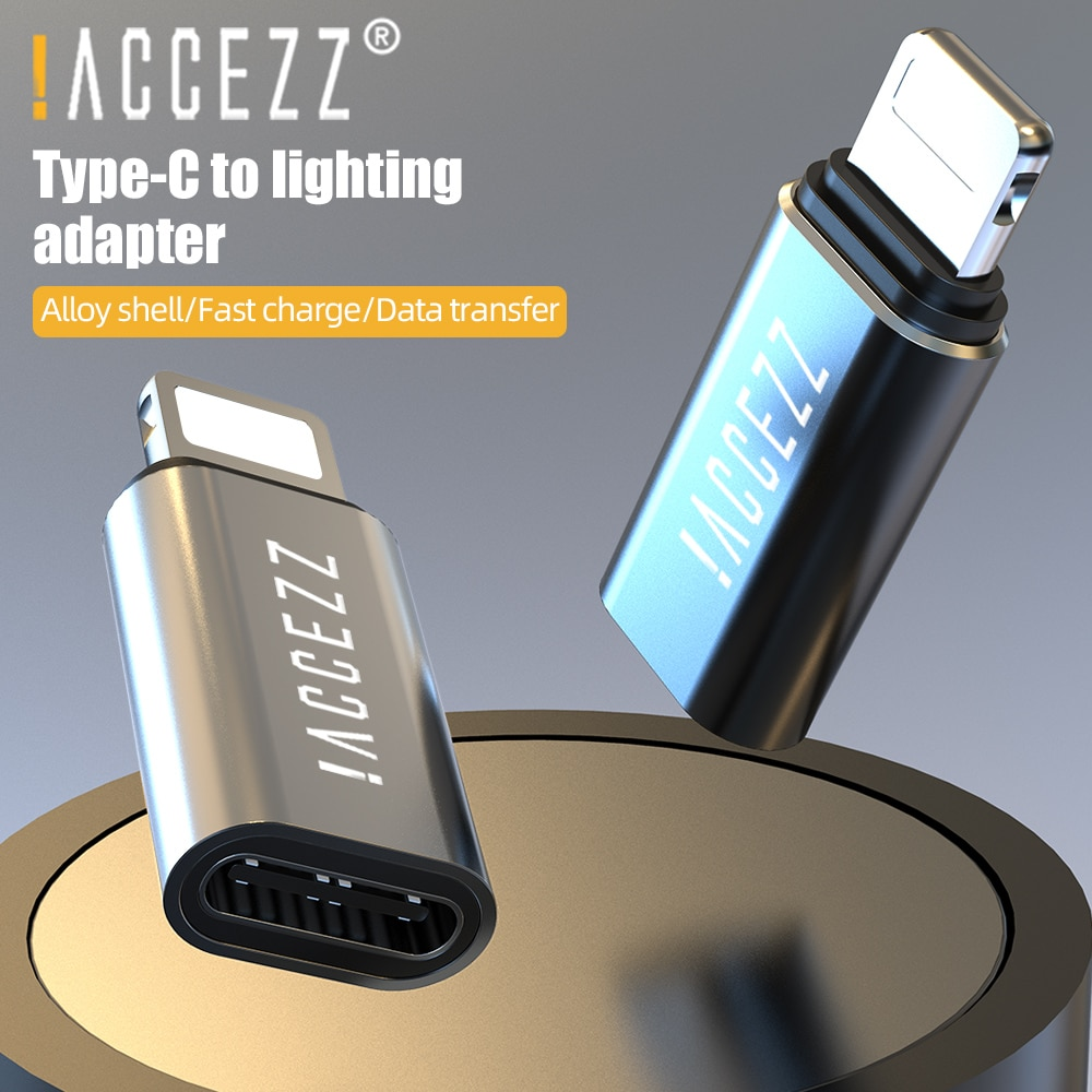 !ACCEZZ For iPhone OTG Adapter Lighting to Type C Female For iPhone 11 Pro X USB C Cable Converter C