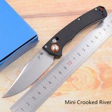 15080 Mini marque de rivière tordue D2 lame en Nylon poignée en fibres pliant fruits utilitaire poche survie chasse EDC outil camping couteau