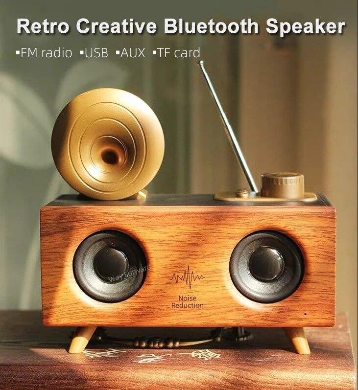 عالية الطاقة المحمولة Boombox المنزل سماعة لاسلكية تعمل بالبلوتوث المتكلم مضخم الصوت مكبر الصوت سوبر باس المحيطي ريترو ساوند بار راديو كبير