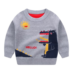 Boys Sweaters Pullover Dinosaur Shirt Tops Jacket Winter Autumn Long Sleeves Toddler Kids Spring Children's Clothing