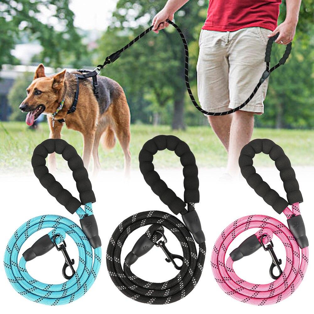 Светоотражающий Поводок для собак, прочный ошейник для собак, Поводок для шлейки для щенков, поводок для больших собак