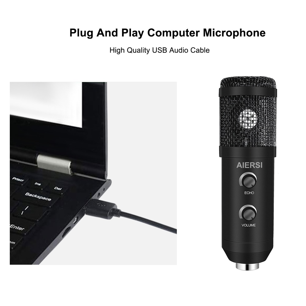 USB Microphone Professional Condenser Microphones For PC Computer Laptop Recording Studio Singing Gaming Streaming Mikrofon enlarge