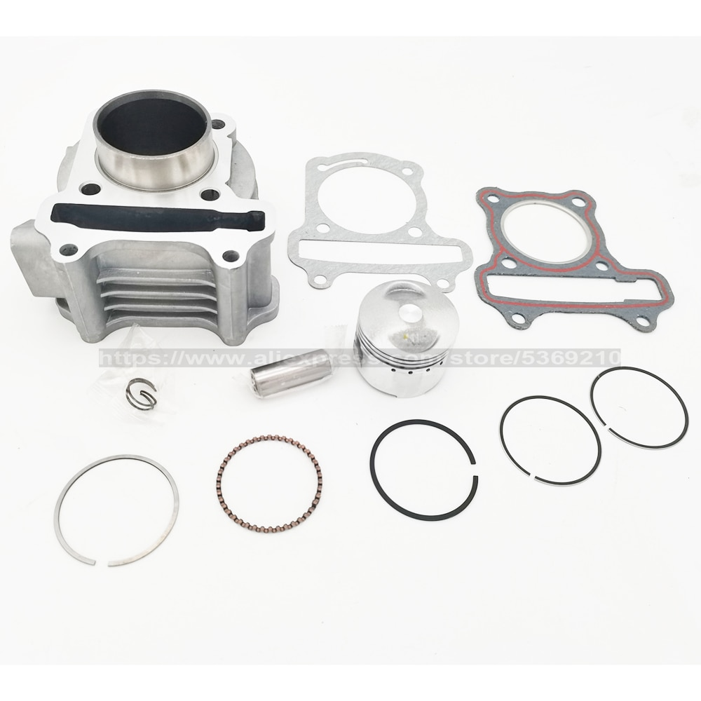 GY6 50CC-100CC GY6 60CC 39 44 47 50MM Big Bore Kit / Cylinder Piston Ring Gasket Set for 139QMB 4 stroke Scooter Moped ATV 70cc big bore cylinder barrel kit for peugeot buxy air rs 50 elyseo advantage looxor metal x 50 zenith air 2t 50cc 47mm 12mm