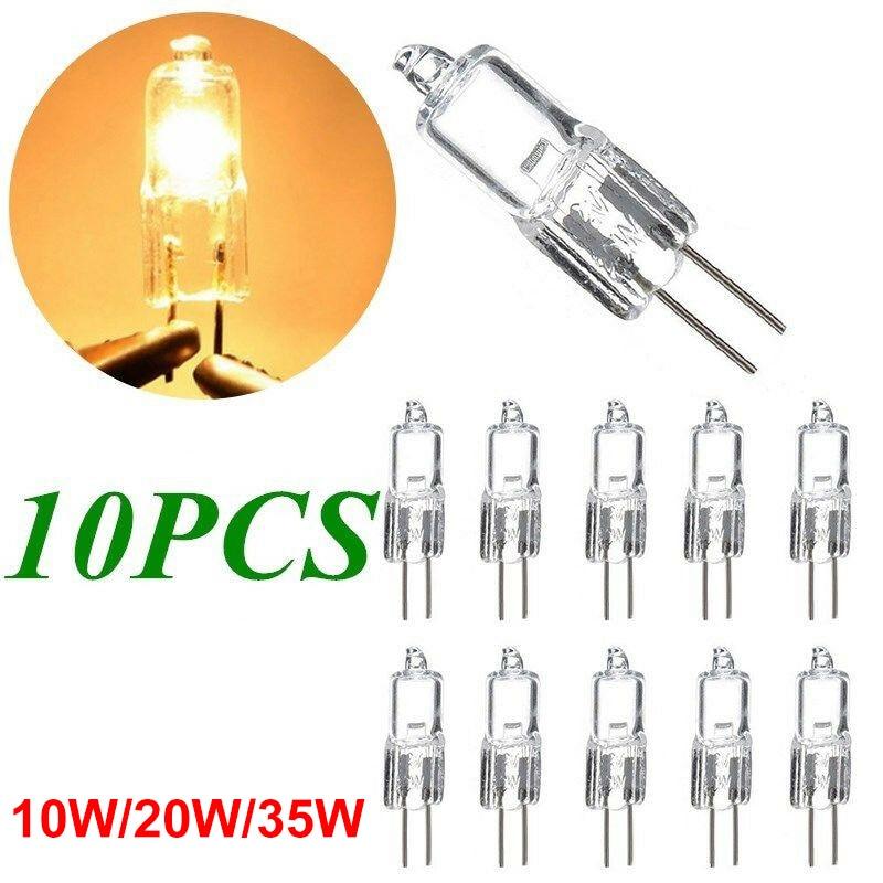 Bombillas halógenas de 10 Uds., Ultra G4, 12V, 20w, bombilla de 10W /35w, bombillas halógenas de cristal insertadas