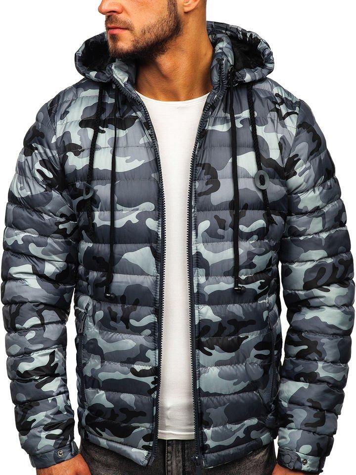Зимняя мужская куртка ZOGAA Молодежная куртка большого размера с хлопковой подкладкой утепленная короткая зимняя одежда