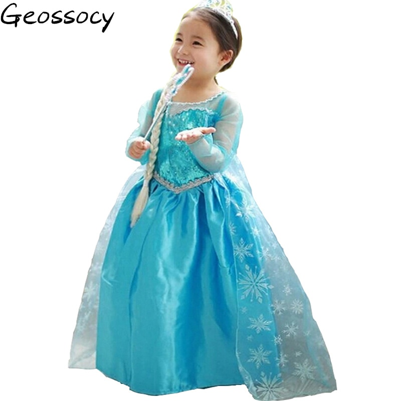 New Baby Girls Carnival Christmas Halloween Cosplay Costume Party Lace Sleeve Tutu Dress Princess Clothes For Kids Girls Costume