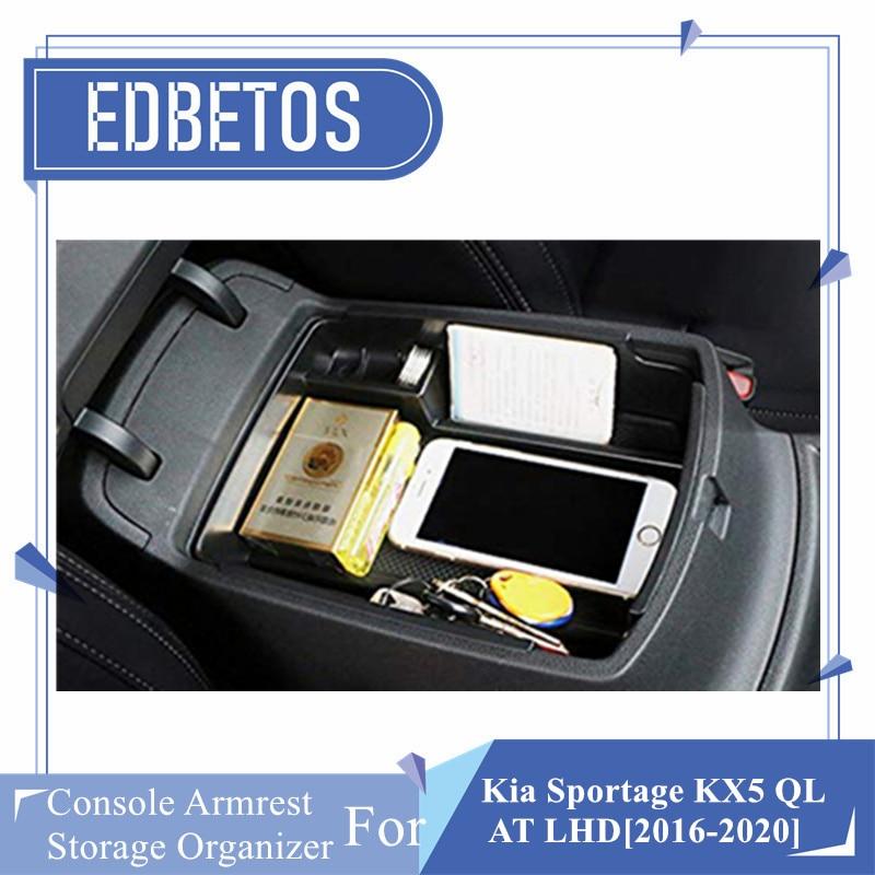 Soporte de compartimento de almacenamiento de apoyabrazos Central para coche con alfombrilla de silicona para Kia Sportage KX5 QL AT LHD accesorios interiores para coche