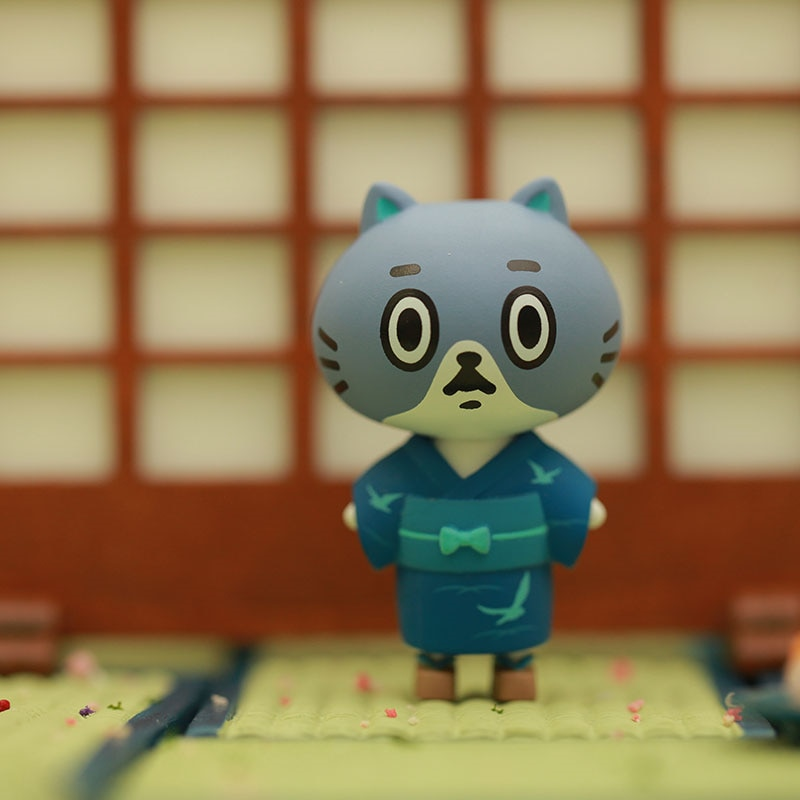 Genuino CANDYBOX rama seca kimono para gatos serie lindo gato retorcido juguete ciego caja mano Decoración