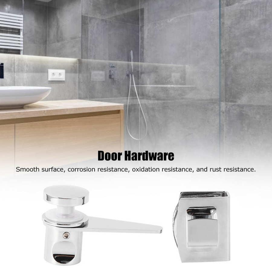 Casa de banho chuveiro porta de vidro trava parafusos fechadura porta acessório