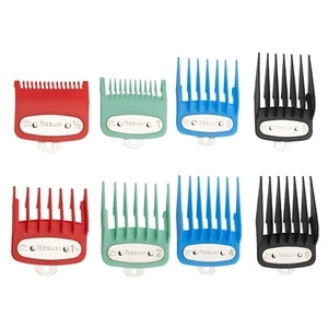 Oil Head Hair Clipper Limit Comb Positioning Tooth Electroplating Guide Comb 8Pc MOLF