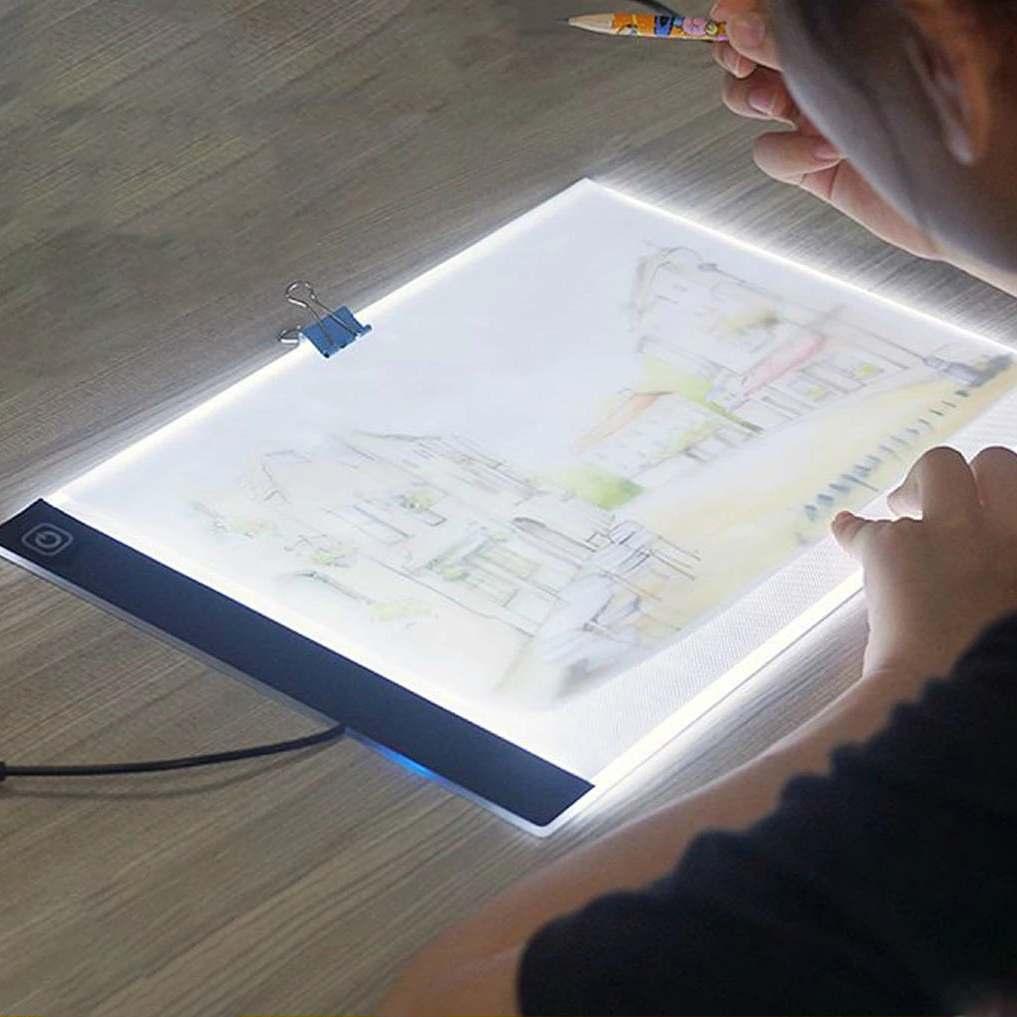 3.5 مللي متر A4 لوحة رسم الجدول حجم نحيف USB LED مضيئة تتبع ضوء مربع نسخة لوحة الرسم DC 5V LED لوحة الرسم