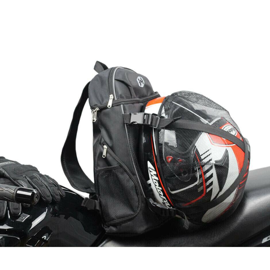 Preto capacete saco dobrável motocicleta mochila portátil bolsa de viagem capa chuva à prova dwaterproof água muiltfunction