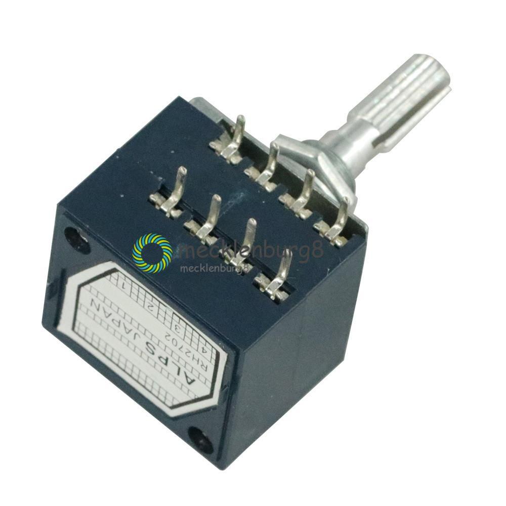 Nowy potencjometr obrotowy 50K RH2702 LOG ALPS głośność dźwięku potencjometr sterowany Stereo W głośności
