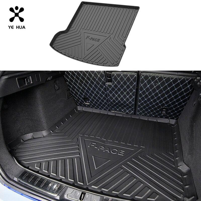 Защитный резиновый коврик для багажника Jaguar F-Pace TPO, прочные коврики, автомобильные аксессуары, вкладыши, внутренние автомобильные детали ...