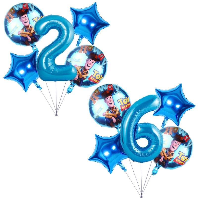 5 шт./компл. Disney История Игрушек 4 фольгированные воздушные шары украшения для дня рождения алюминиевые фольгированные воздушные шары Детск...