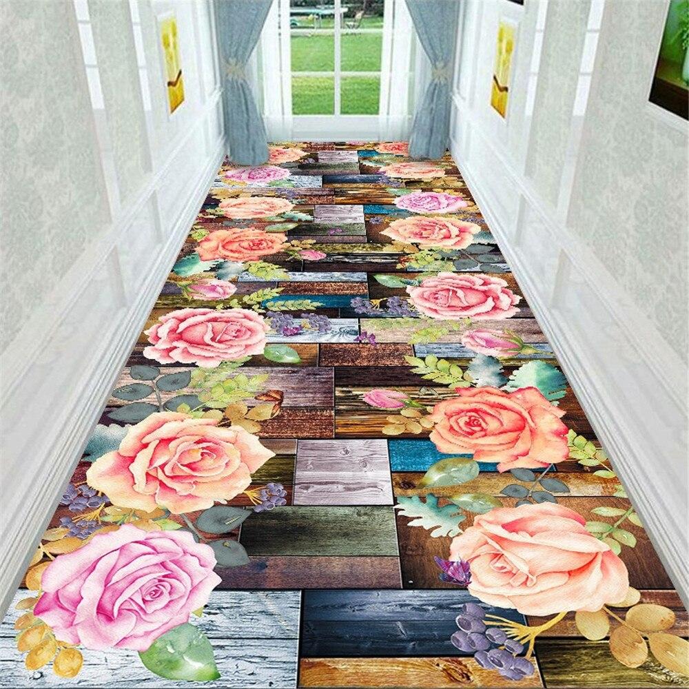 سجادة أرضية ثلاثية الأبعاد بحجر الخور والحصى السجاد باب المطبخ والسرير منطقة الطاولة السجاد البساط بساط غرفة المعيشة الأزهار المثالية