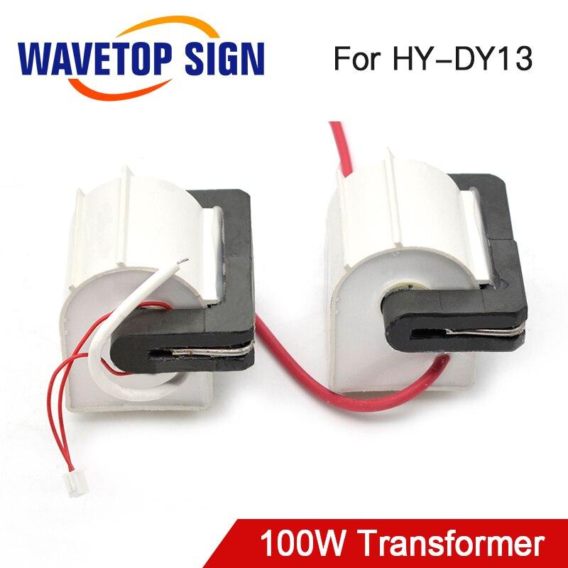 WaveTopSign HY-80TC-3T * 2 100W Ad Alta Tensione Flyback Transformer utilizzare per RECI potenza del Laser di Alimentazione DY13 100W 2 pz/lotto
