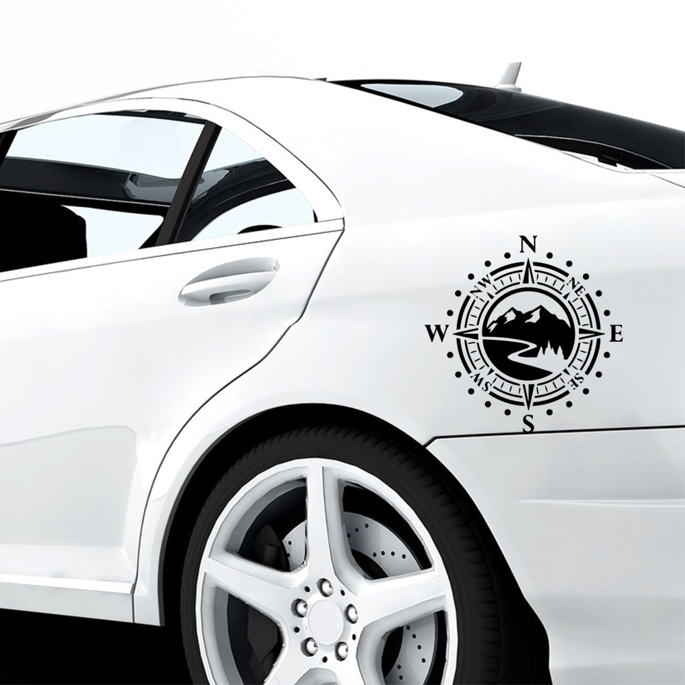 Newest Compass Car Stickers Vinyl Decal Sticker Motorcycle Styling