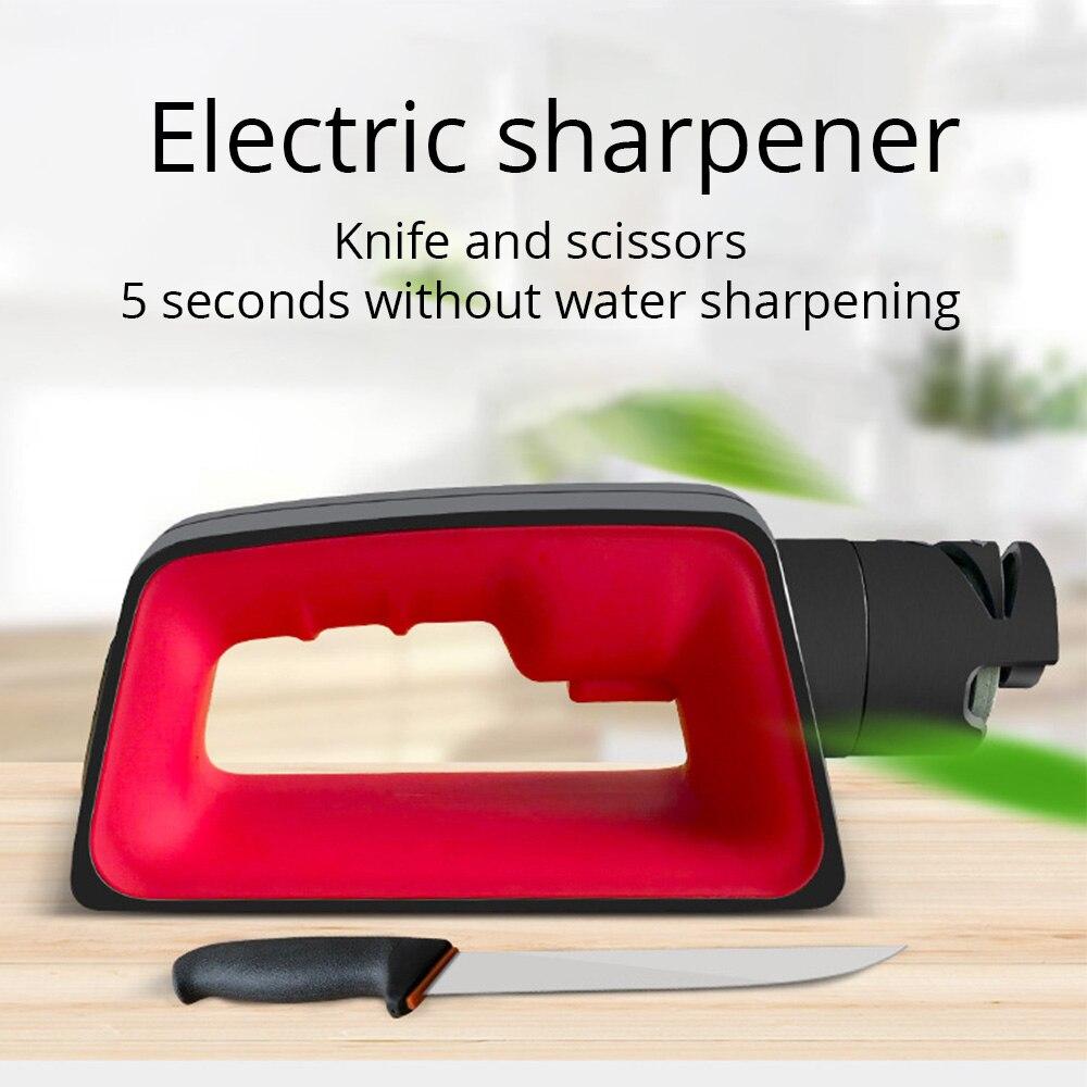 Профессиональная электрическая точилка для кухонных ножей моторизованный вращающийся точильный камень инструмент 110В 220В для кухонных ножей аксессуары