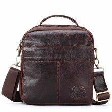 Quality Men's Shoulder Bag Crossbody Bags Male Bag Cow Leather Handbag Capacity Men Messenger Bags T