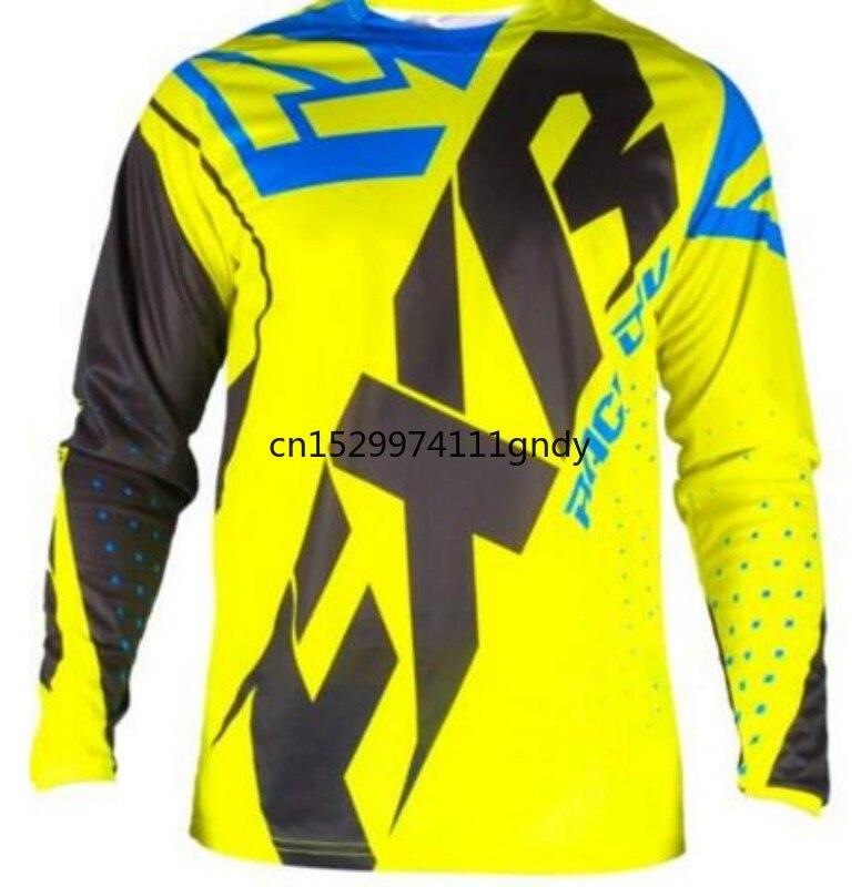 NEW FXR Motocross Shirt Motorcycle Jacket Off-road T-shirt Ride Bicycle Long-sleeve Shirt Motocross Jersey Moto Jersey