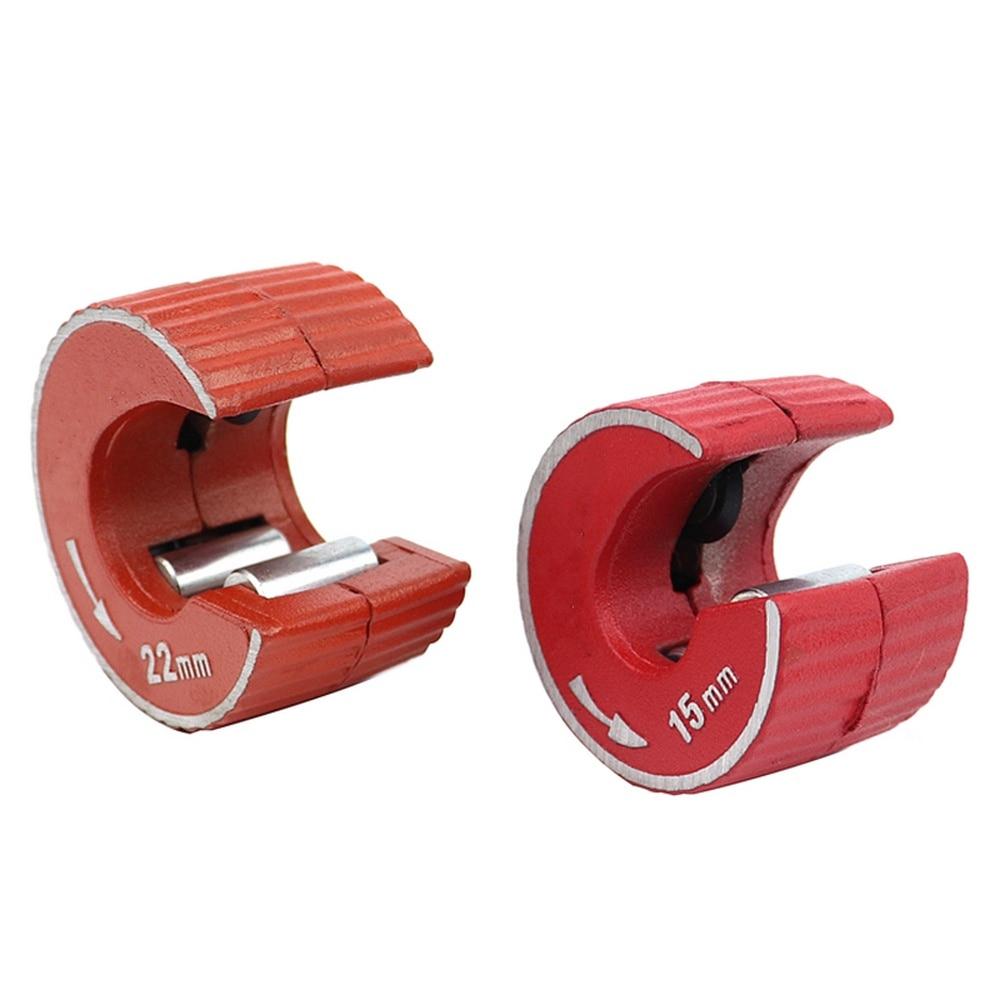 15mm/22mm Mini tubo redondo cortador de tubo cuerpo de aleación de aluminio auto bloqueo para tubo de cobre de aluminio PVC tubo de plástico herramientas de corte
