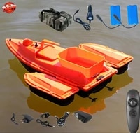 single hand automatic nesting rc fishing boat ship 2 4g 500m 3 hours life time fixed speed cruise wireless control rc bait boat
