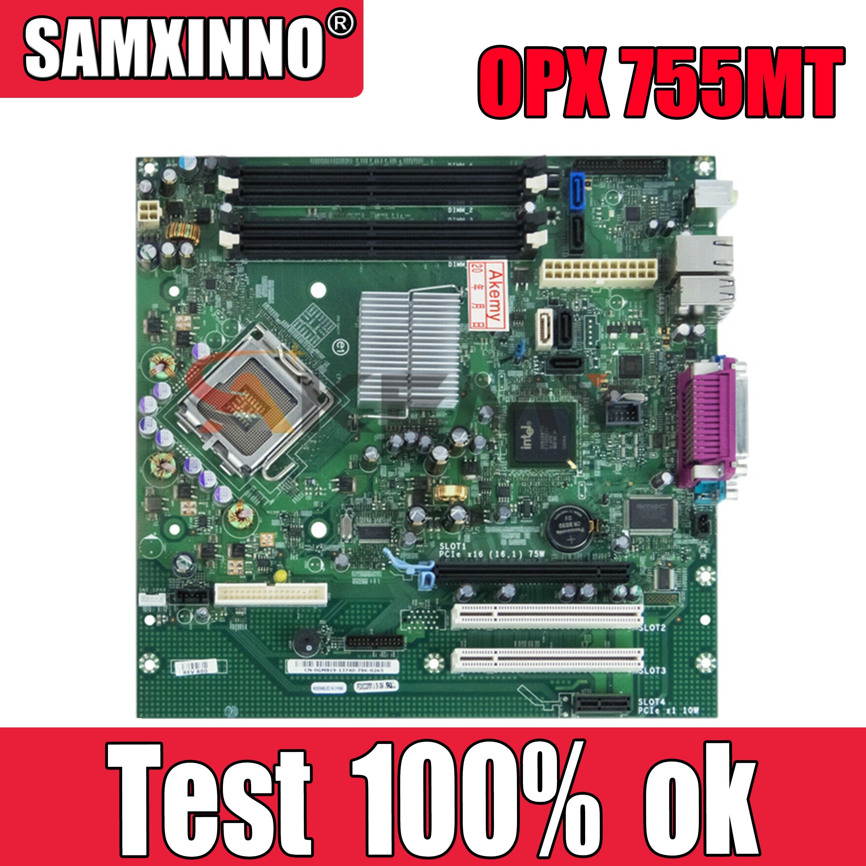 Qualidade para Dell Alta Placa-mãe Cn-0gm819 0gm819 Gm819 Ddr2 100% Testado Navio Rápido Opx 755mt Lga775