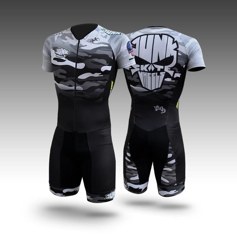 Patines chatarra ciclismo triatlón traje hombres Go Pro Bike Skinsuit verano Set camuflaje ropa bicicleta Speedsuit ropa de ciclismo
