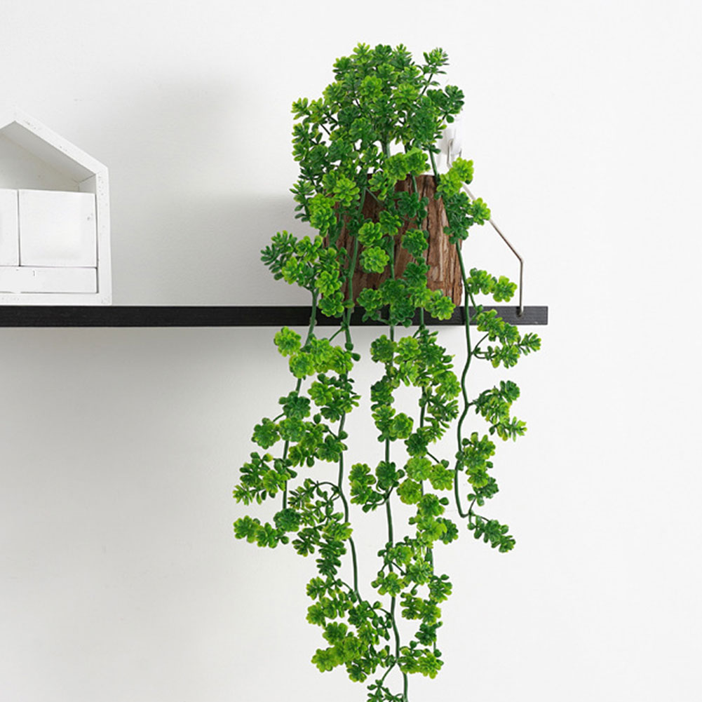 Artificial Hanging Plant Fake Greenery Wall Drooping Succulent Vines Leaves Home Garden Outdoor Simulation Plants Decoration 1 pc simulation plant artificial silk leaves turtle leaf diy wall accessories home garden decoration